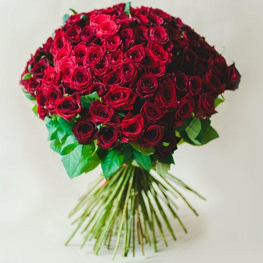 Букет из 101 розы Красные: букеты цветов на заказ Flowwow