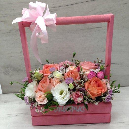 Стильный ящичек ПРЕЛЮДИЯ: букеты цветов на заказ Flowwow
