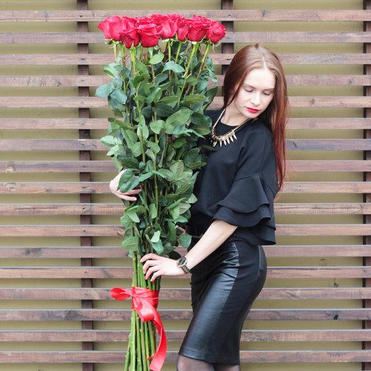 Розы-ГИГАНТЫ: букеты цветов на заказ Flowwow