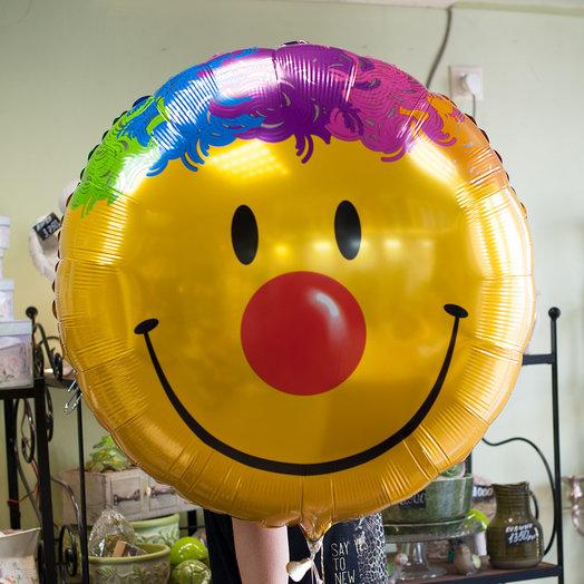 Воздушный шарик-смайлик (90*90 см): букеты цветов на заказ Flowwow