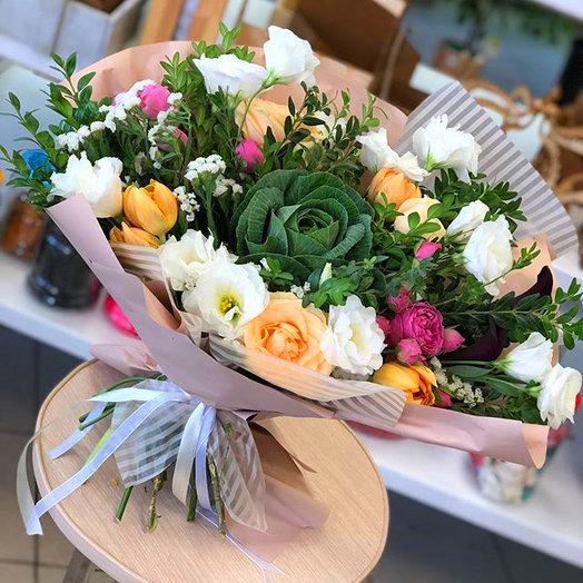 """Живописный букет """"Цветочный рай"""""""