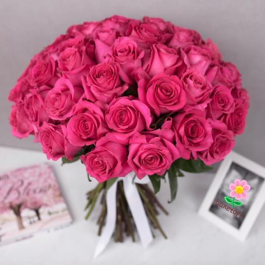 51 роза Pink Floyd: букеты цветов на заказ Flowwow