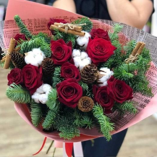 Christmas bouquet: flowers to order Flowwow