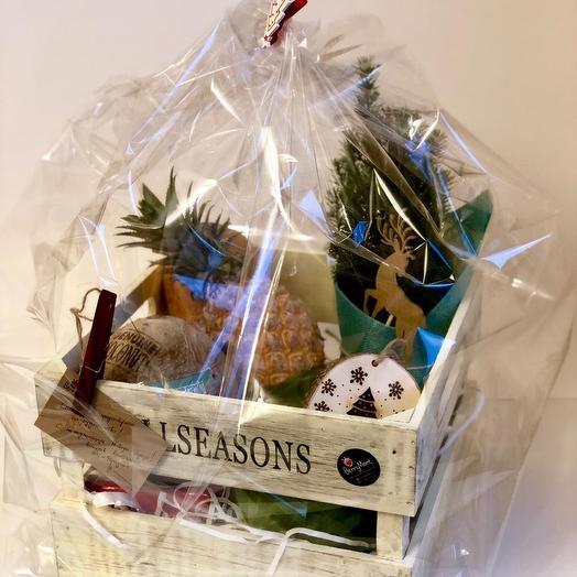 Новогодний подарочный набор: букеты цветов на заказ Flowwow