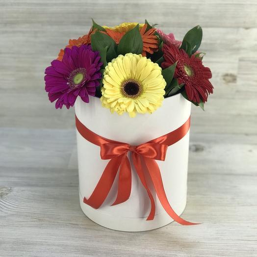 Коробка гербер: букеты цветов на заказ Flowwow