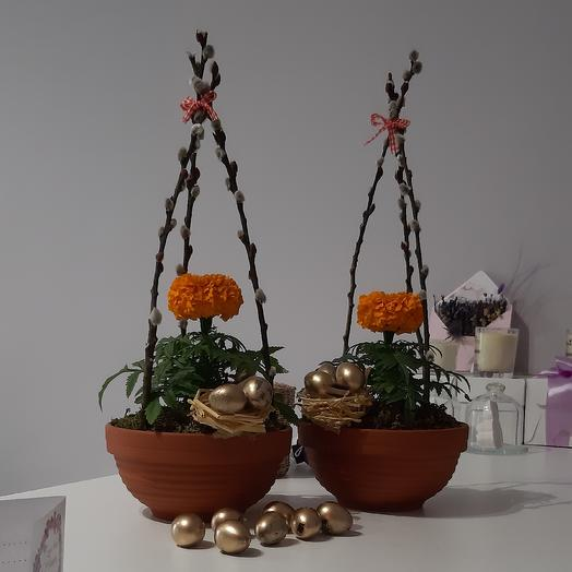 Пасхальная композиция: букеты цветов на заказ Flowwow