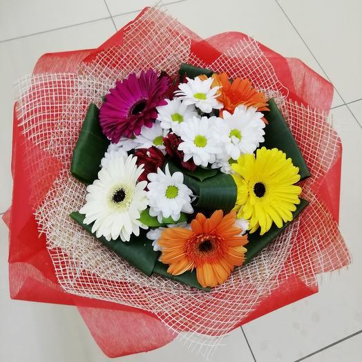 Микс с герберами: букеты цветов на заказ Flowwow