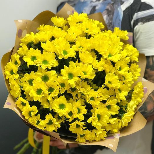 Букет из 15 желтых хризантем: букеты цветов на заказ Flowwow