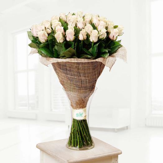 Кремовая роза 51: букеты цветов на заказ Flowwow
