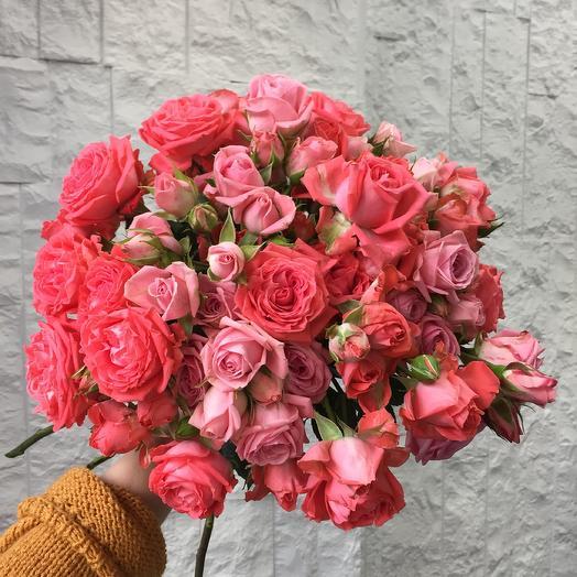 Розовый микс: букеты цветов на заказ Flowwow