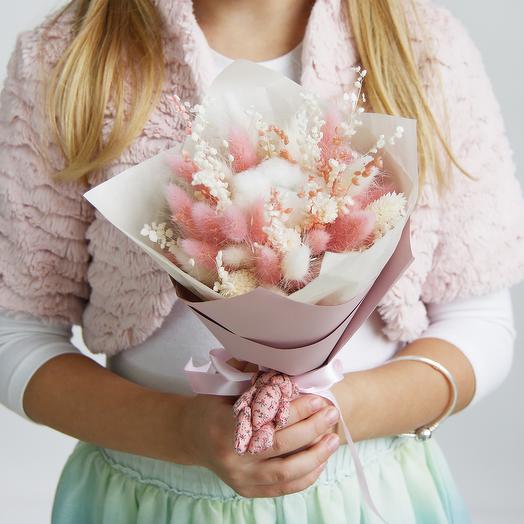 """1 """"Белый с розовым"""" (детский): букеты цветов на заказ Flowwow"""
