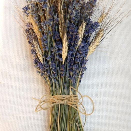 Букет лаванды и пшеницы: букеты цветов на заказ Flowwow