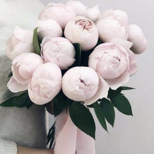 Букет пионов «Скучаю по тебе»: букеты цветов на заказ Flowwow