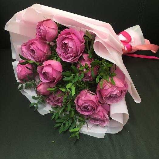 Букет из пионовидных роз Мисти Баблз ( 5 шт): букеты цветов на заказ Flowwow