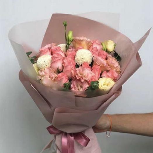 БУКЕТ ПЕРСИКОВЫЙ ДЕСЕРТ: букеты цветов на заказ Flowwow