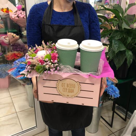 Цветы и кофе капучино: букеты цветов на заказ Flowwow