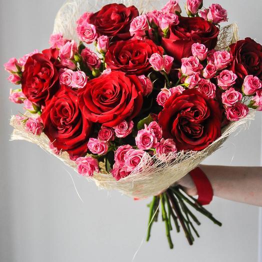 "Букет из роз ""Рубин"""