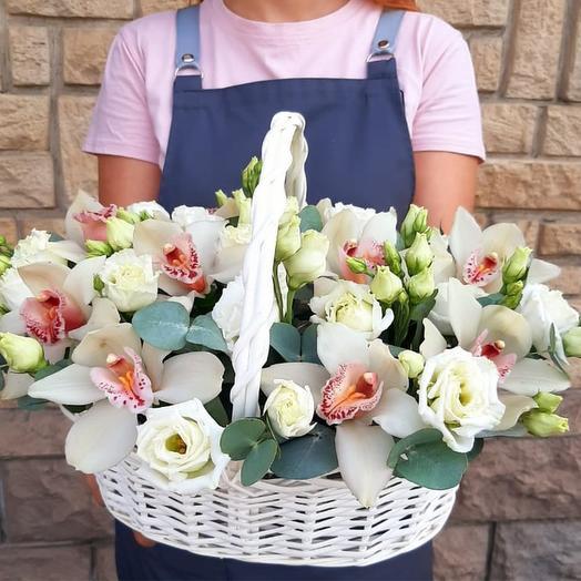 """Корзина с цветами """"Всё для тебя, любимая !"""""""