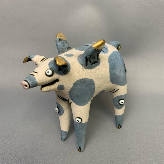 Керамическая фигурка ручной работы «Керамический свин»