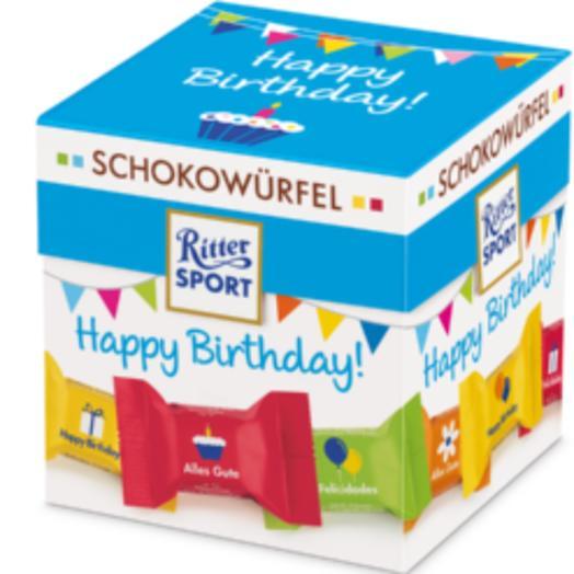 Подарочный набор Ritter Sport Happy Birthday 176 гр