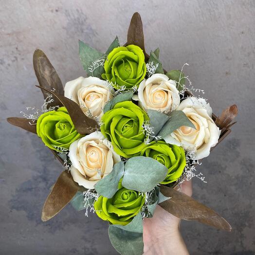 Коробочка с мыльными розами S