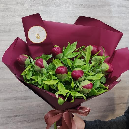 Букет Bouquet of fresh PEONIES (Hit)