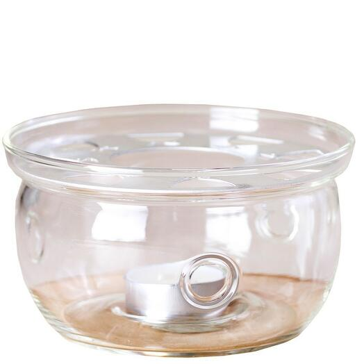 подставка со свечой под чайник, стекло 1 шт