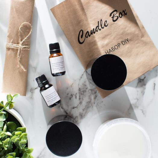 ( Пачули, Бурбон Ваниль ) НАБОР DIY/ Полный набор для изготовления свечей ( 2 свечи )/ Подарочный набор, Candle box