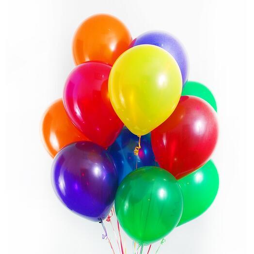 11 разноцветных шаров