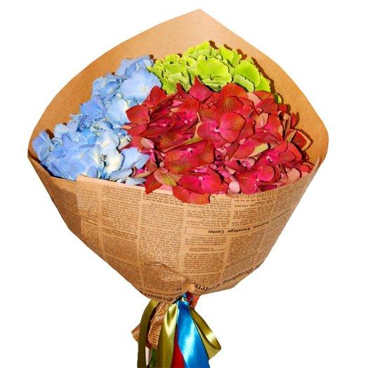 Микс из гортензий: букеты цветов на заказ Flowwow