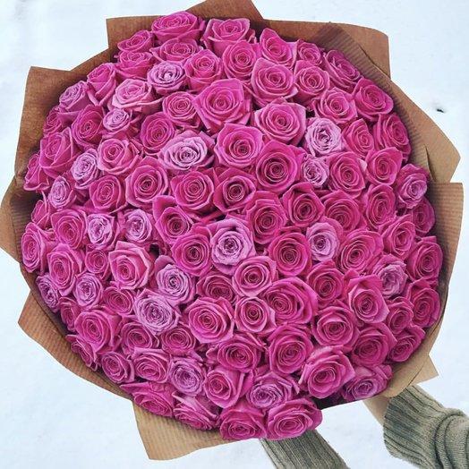 Роза 101: букеты цветов на заказ Flowwow