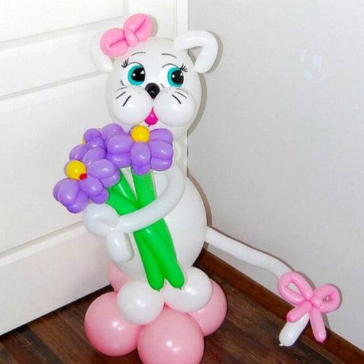 Котёнок с ромашками: букеты цветов на заказ Flowwow