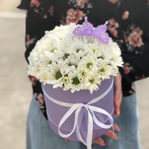 Ромашковое облако в Шляпной коробке: букеты цветов на заказ Flowwow