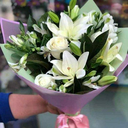 Белоснежный: букеты цветов на заказ Flowwow