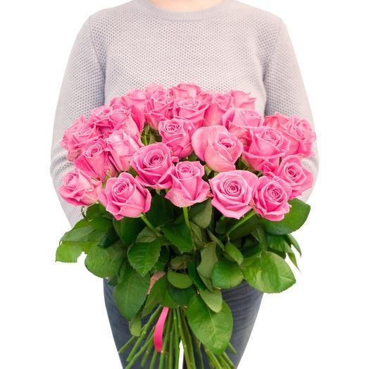 Розовая роза 29 шт: букеты цветов на заказ Flowwow