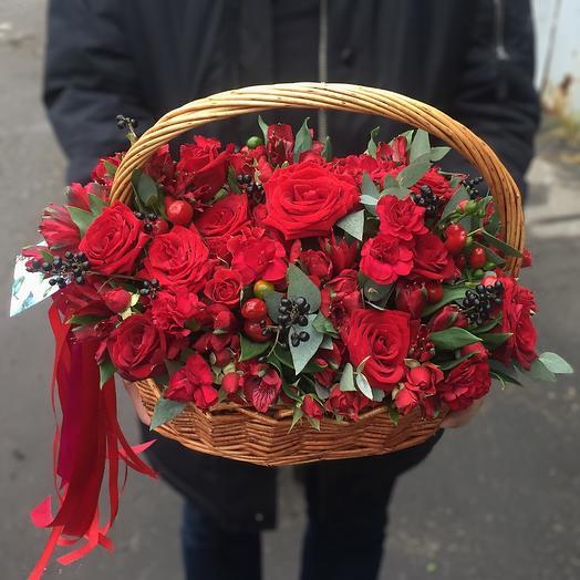 Пламенный поцелуй: букеты цветов на заказ Flowwow