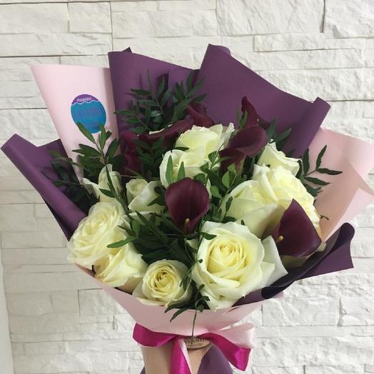 """Букет """"Фиолетовое затмение"""": букеты цветов на заказ Flowwow"""