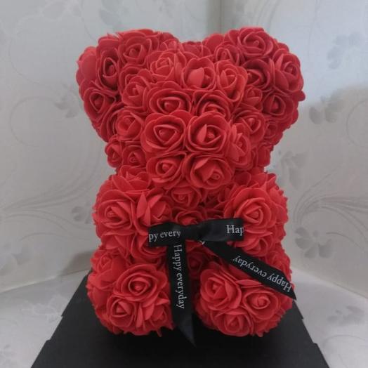 Мишка из роз 3D: букеты цветов на заказ Flowwow