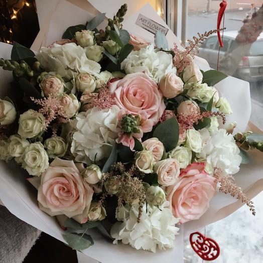 Воздушный шик: букеты цветов на заказ Flowwow