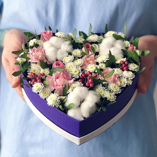 Heart 23 Малое: букеты цветов на заказ Flowwow