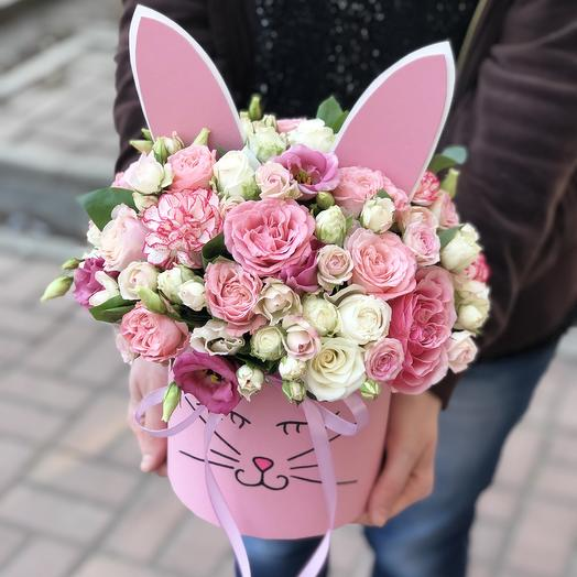 Нежный зайка: букеты цветов на заказ Flowwow
