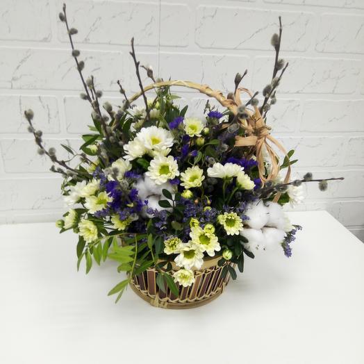 """Корзина """"весенняя"""": букеты цветов на заказ Flowwow"""