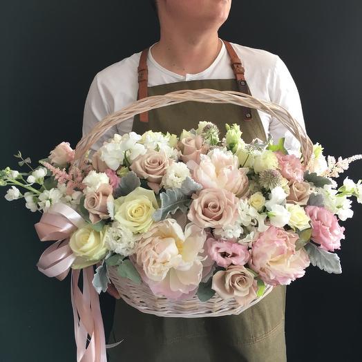 Корзина - идеальна для свадьбы: букеты цветов на заказ Flowwow
