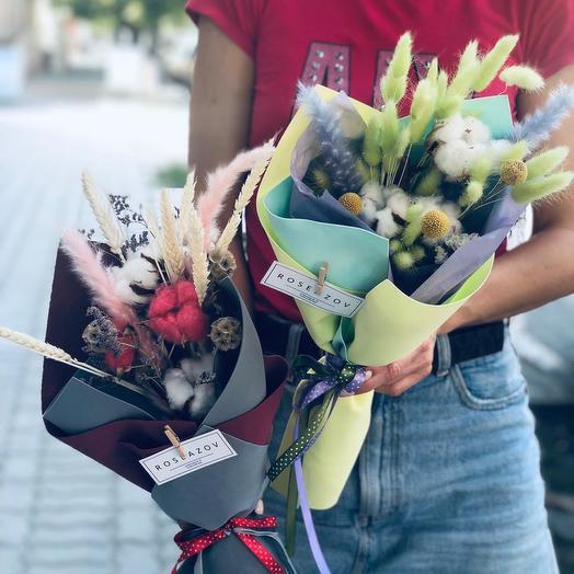 Букетики из сухоцветов: букеты цветов на заказ Flowwow
