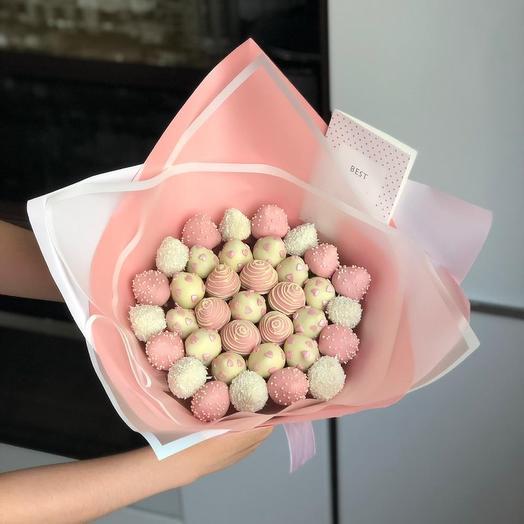 TOP Клубничный букет CANDY ROSE по акции: букеты цветов на заказ Flowwow