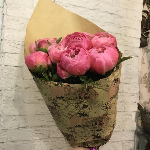 Коралловые пионы для любимой по супер цене: букеты цветов на заказ Flowwow