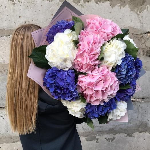 """Букет из гортензий """"Летнее облако"""": букеты цветов на заказ Flowwow"""