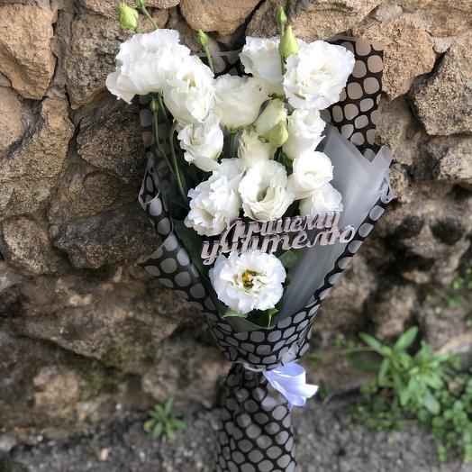 Букет эустом с топпером: букеты цветов на заказ Flowwow
