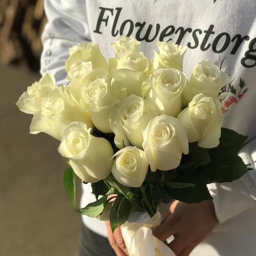 Розы. Букет из 15 кенийских роз. N545: букеты цветов на заказ Flowwow