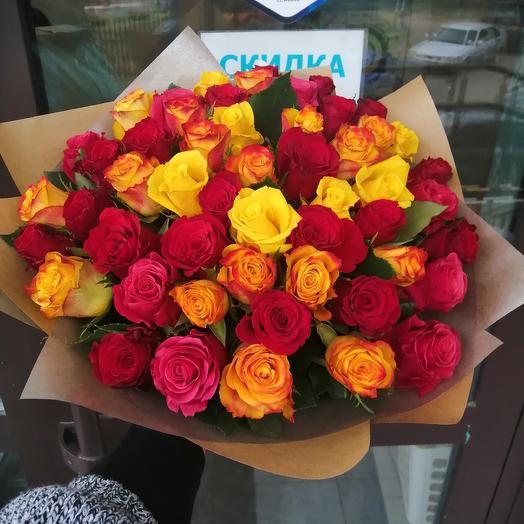 51 роза!!!)): букеты цветов на заказ Flowwow